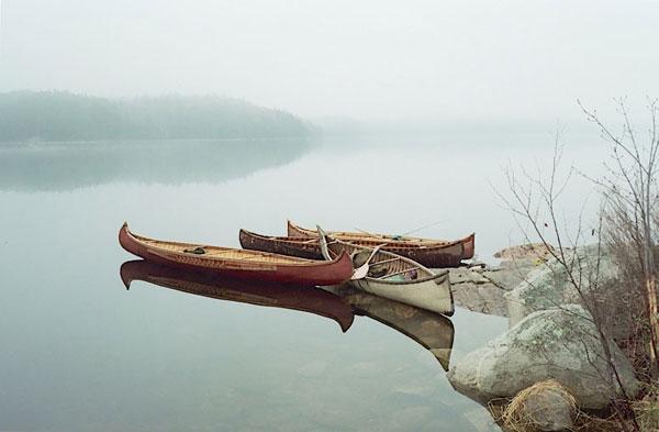 birch bark canoes made by Ferde goode