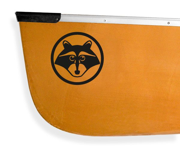 curious raccoon masked bandit Kanuyak Decals and Stickers for Canoes, Kayaks, cars and trucks