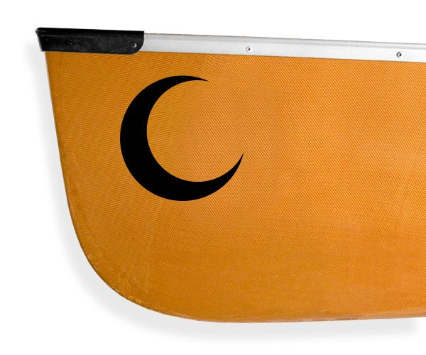 Nova Scotia Micmacs crescent moon design Kanuyak Decals and Stickers for Canoes, Kayaks, cars and trucks