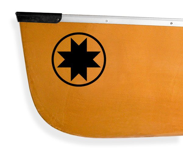 Voyageur canoe star Kanuyak Decals and Stickers for Canoes, Kayaks, cars and trucks