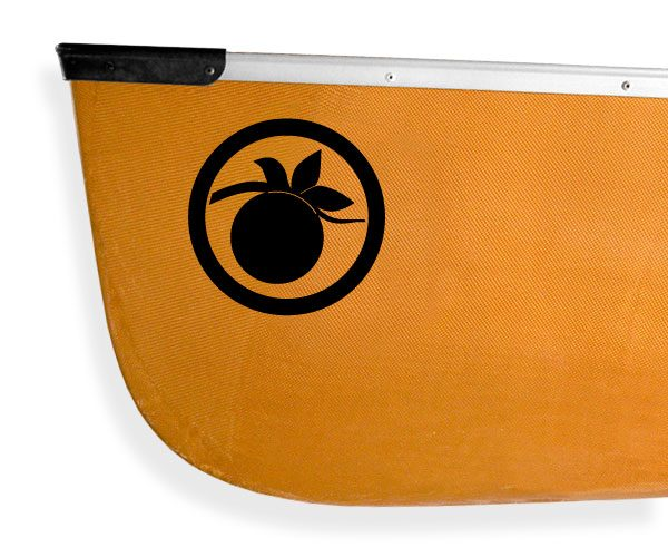 Voyageur canoe fruit Kanuyak Decals and Stickers for Canoes, Kayaks, cars and trucks
