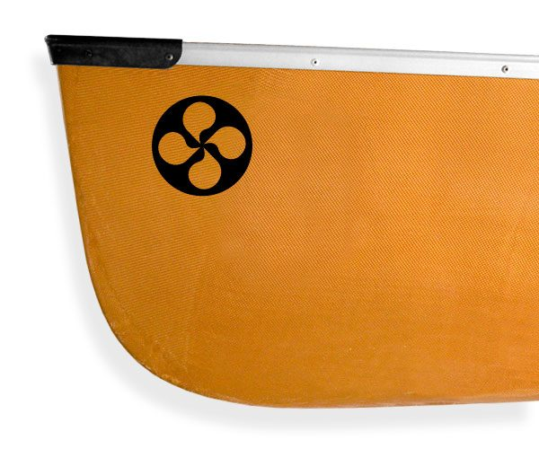 Voyageur Wheel Kanuyak Decals and Stickers for Canoes, Kayaks, cars and trucks